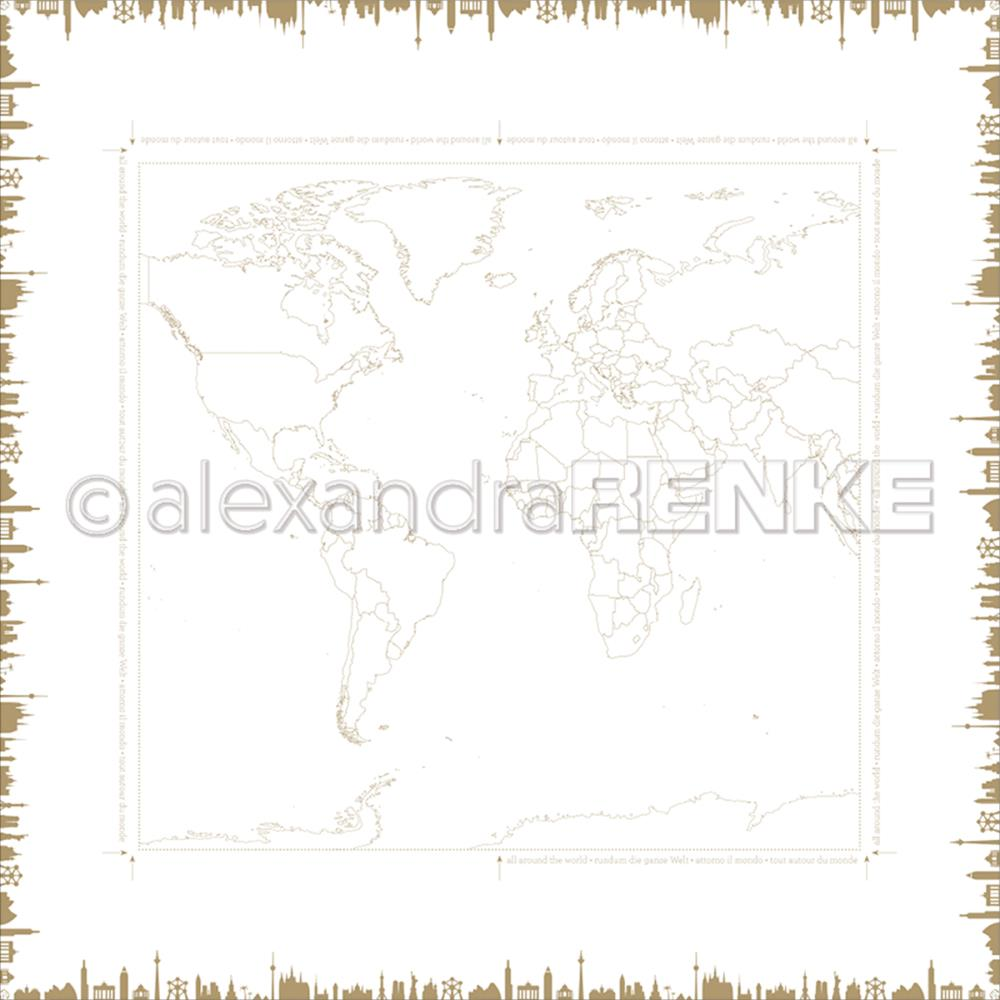"Alexandra Renke - Travel Design Paper 12""X12"" - World Monuments"