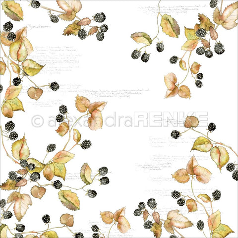 "Alexandra Renke - Autumn Design Paper 12""X12"" - Blackberry"