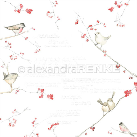 "(Pre-Order) Alexandra Renke - Autumn Design Paper 12""X12"" - Birds & Berries"