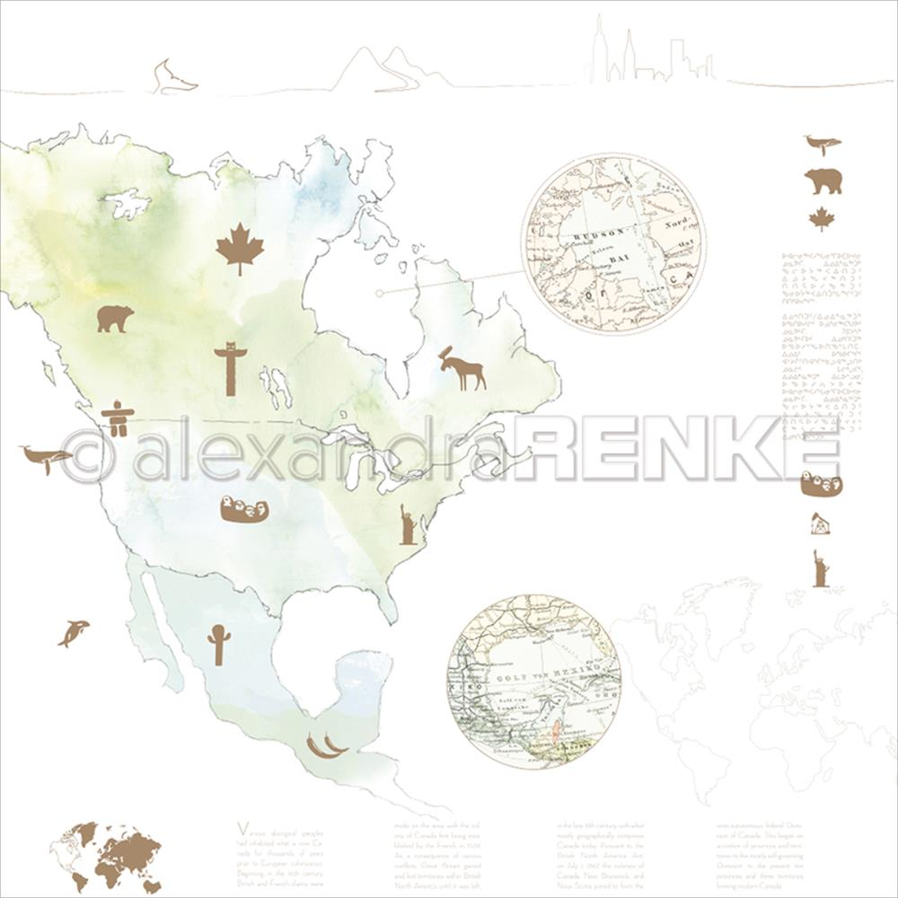 "Alexandra Renke - Travel Design Paper 12""X12"" - America Watercolor"