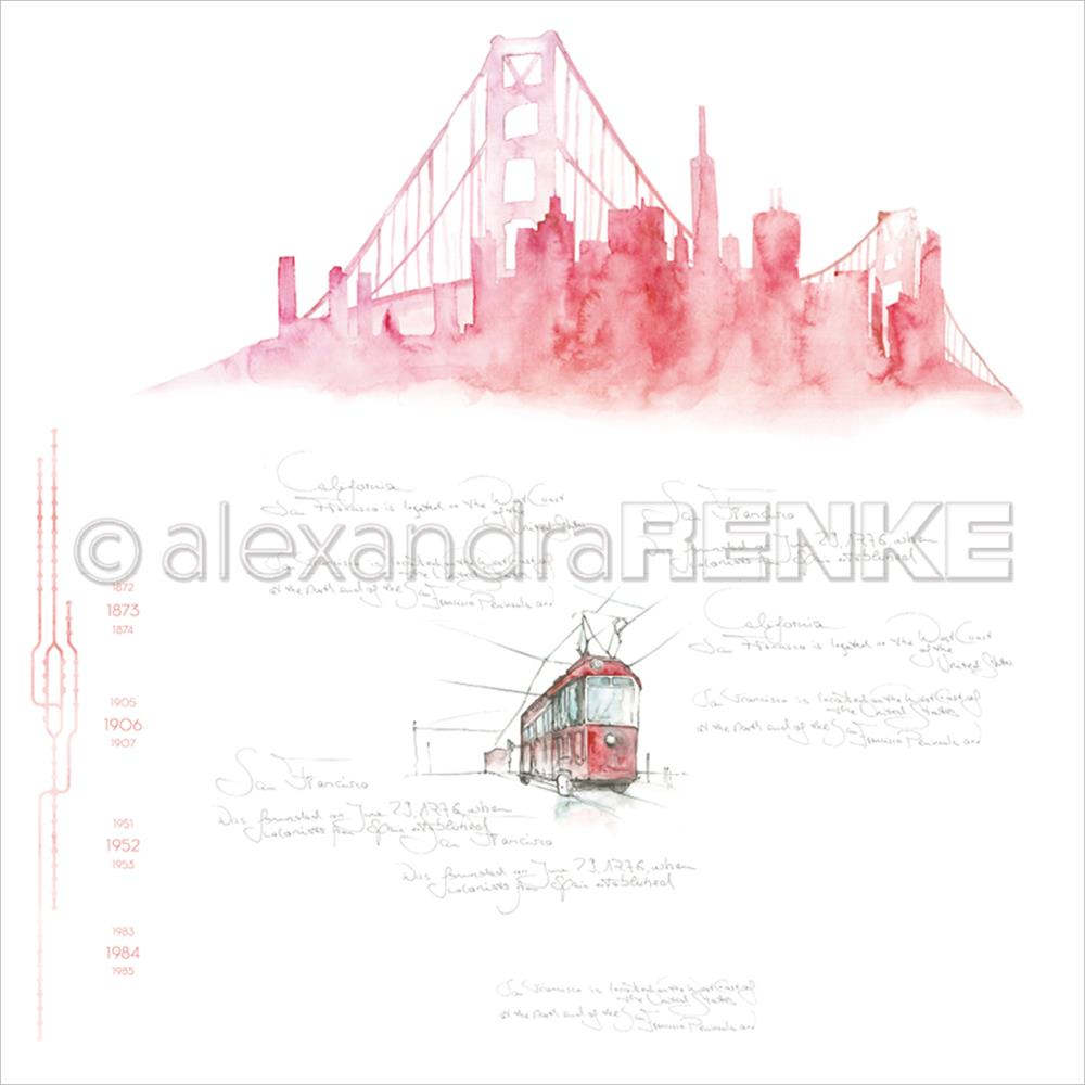 "Alexandra Renke - Travel Design Paper 12""X12"" - San Francisco Skyline"