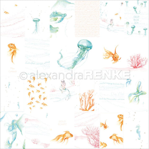 Alexandra Renke - Under The Water Design Paper - Colorful Water World