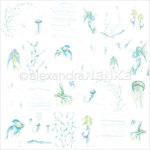 Alexandra Renke - Under The Water Design Paper - Mermaids & Jellyfish