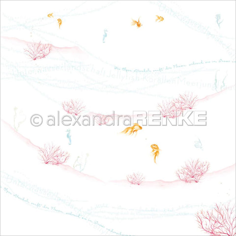 Alexandra Renke - Under The Water Design Paper - Coral And Goldfish