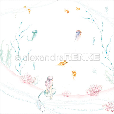 Alexandra Renke - Under The Water Design Paper - Sitting Mermaid