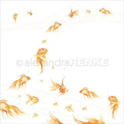 Alexandra Renke - Under The Water Design Paper - Goldfishes