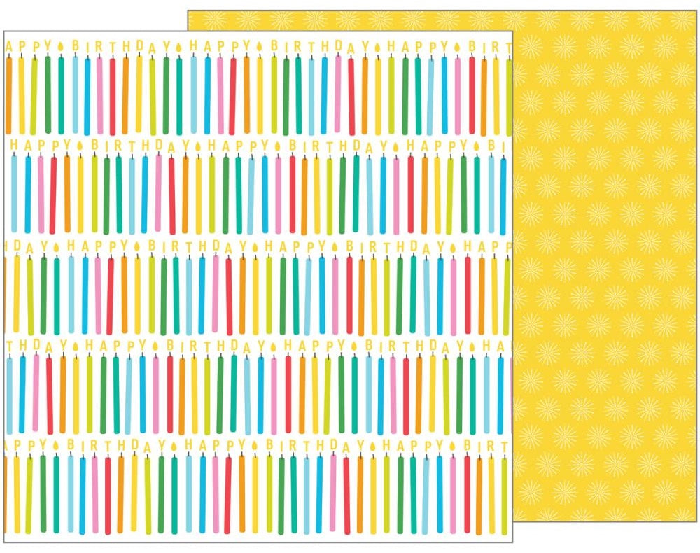 American Crafts - Happy Hooray Double-Sided Cardstock - Make A Wish
