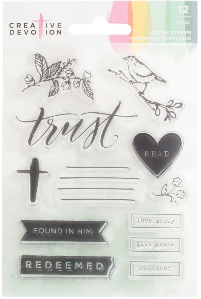 American Crafts - Creative Devotion Acrylic Stamps - Trust