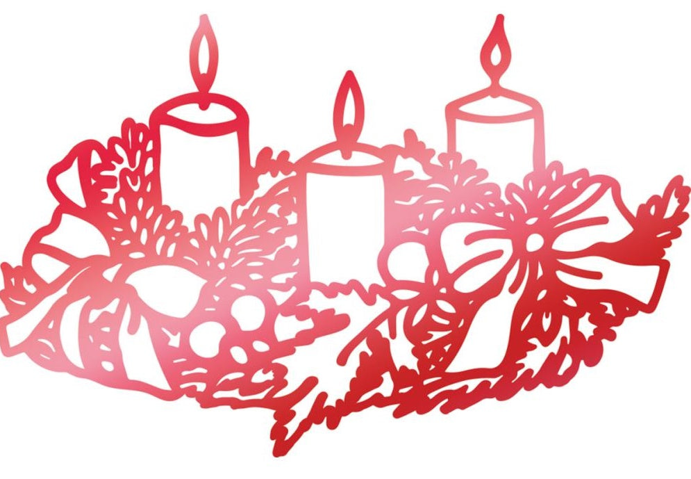 Couture Creations - Let Every Day Be Christmas Hotfoil Stamps - Weathered Candles