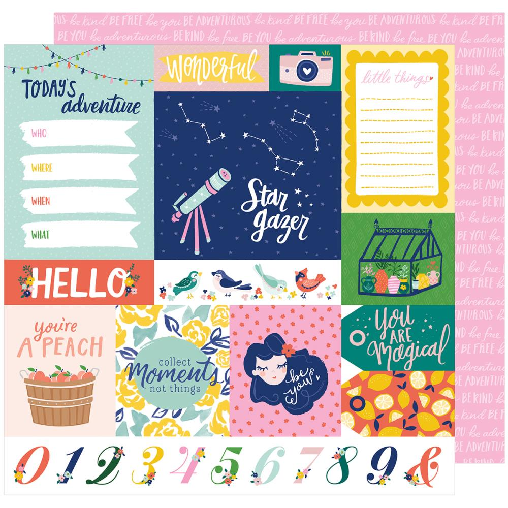 American Crafts - Star Gazer Double-Sided Cardstock - Adventure