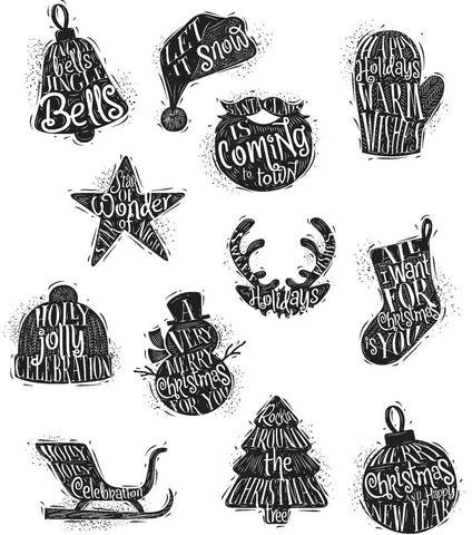 ***Pre-Order*** Tim Holtz - Stampers Anonymous Cling Stamps - Mini Carved Christmas