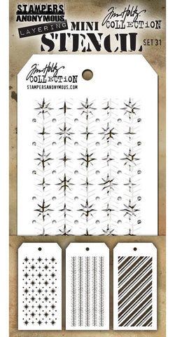 ***Pre-Order*** Tim Holtz - Stampers Anonymous Layering Mini Stencil - Set #31