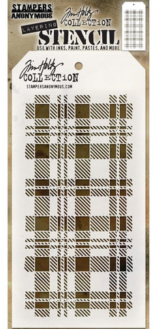 Tim Holtz - Stampers Anonymous Layering Stencil - Plaid