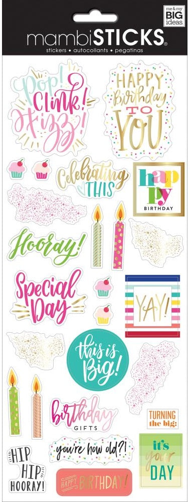 Me & My Big Ideas - MAMBISticks Stickers - Happy Day