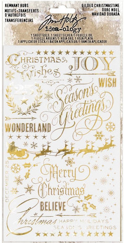 Tim Holtz - Idea-ology - Remnant Rubs - Gilded Christmas Time (Christmas)