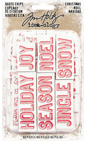 ***Pre-Order*** Tim Holtz - Idea-ology - Quote Chips (Christmas)