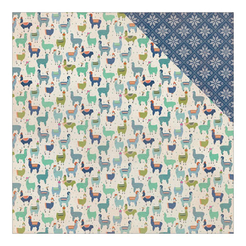 Authentique Paper - Alpine Double-Sided Cardstock - #4 Llamas Wearing Sweaters/Snowflake