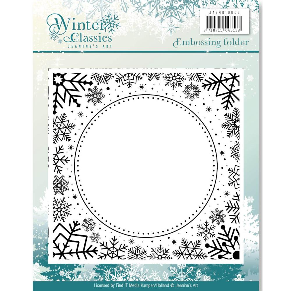 Find It Jeanine's Art Winter Classics Embossing Folder