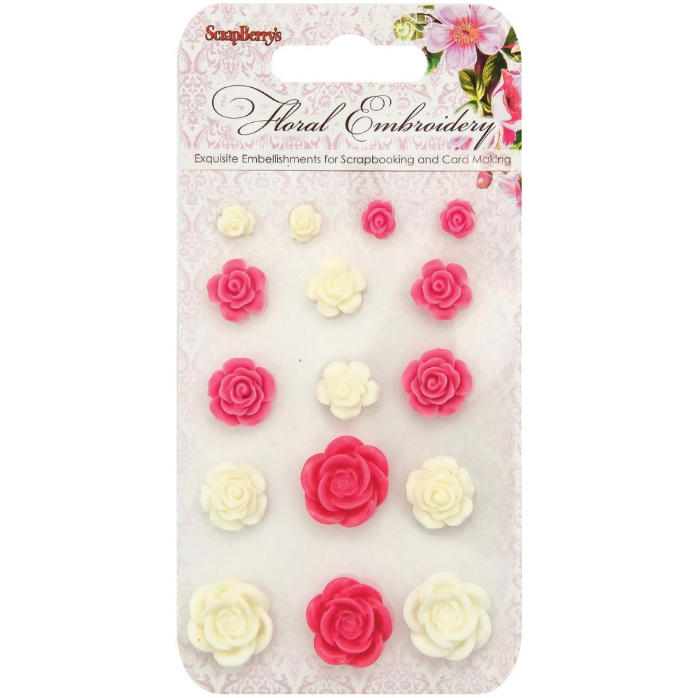 ScrapBerry's - Floral Embroidery Resin Flowers #1