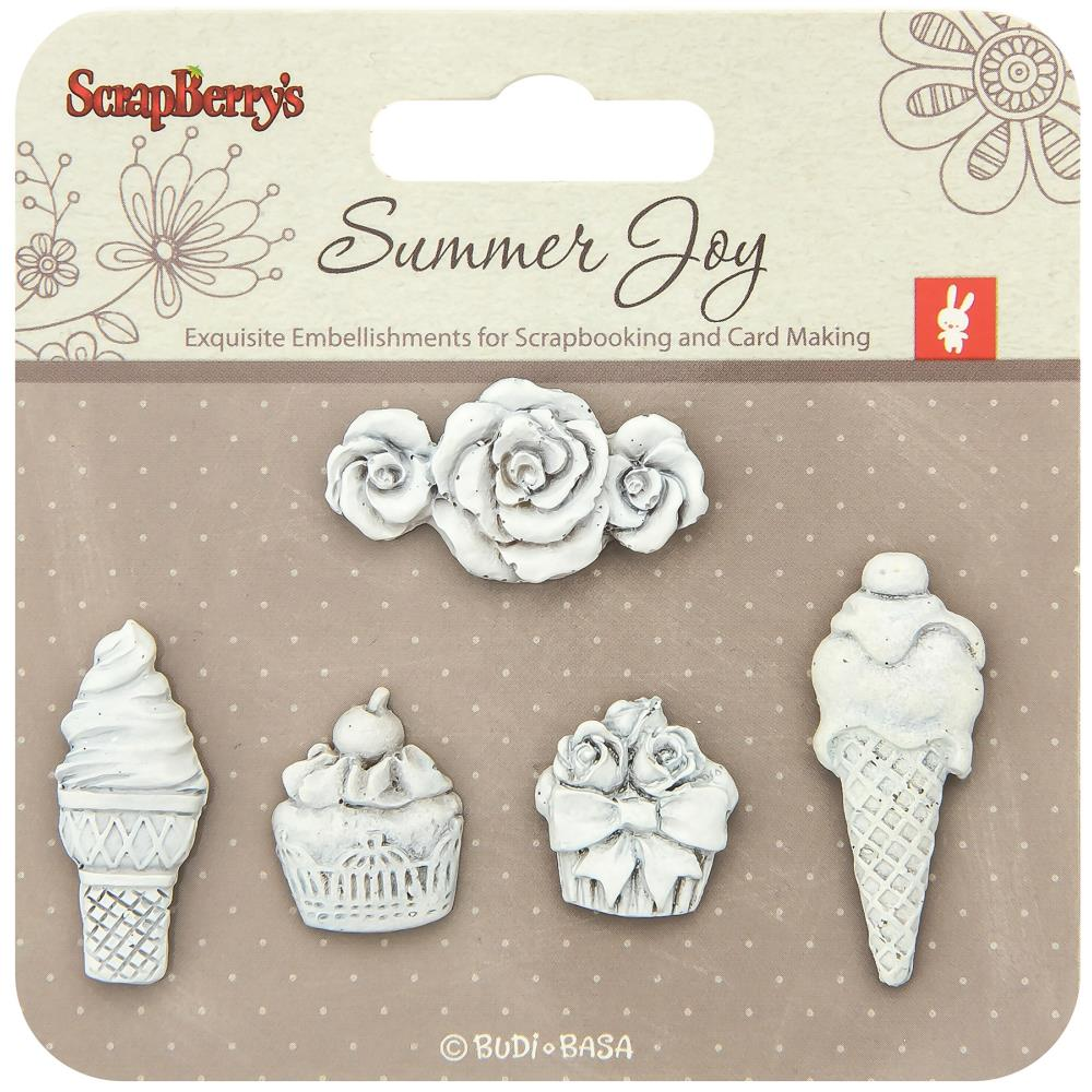 ScrapBerry's - Summer Joy Polymer Shapes - Dessert
