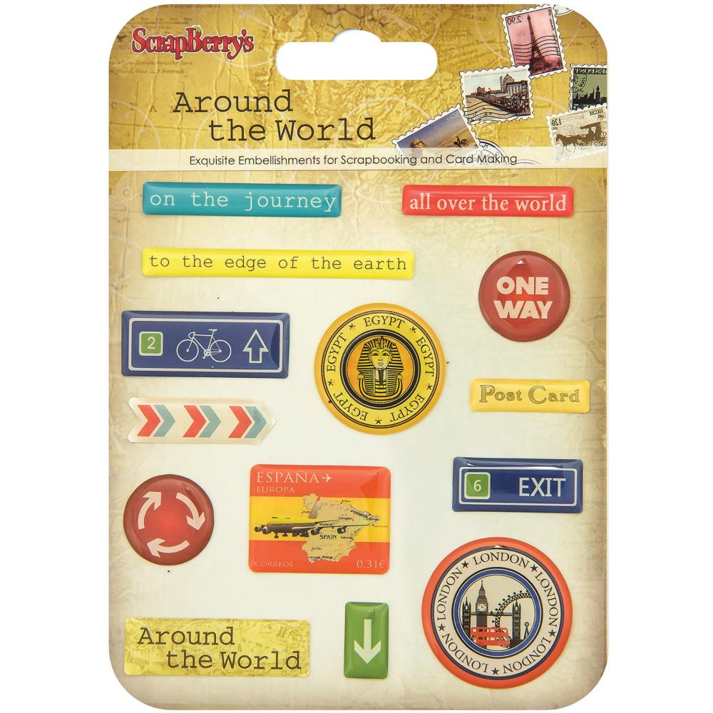 ScrapBerry's - Around The World Epoxy Stickers
