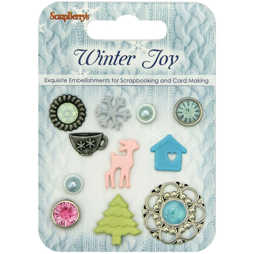 ScrapBerry's - Winter Joy Decorative Brads - Assorted