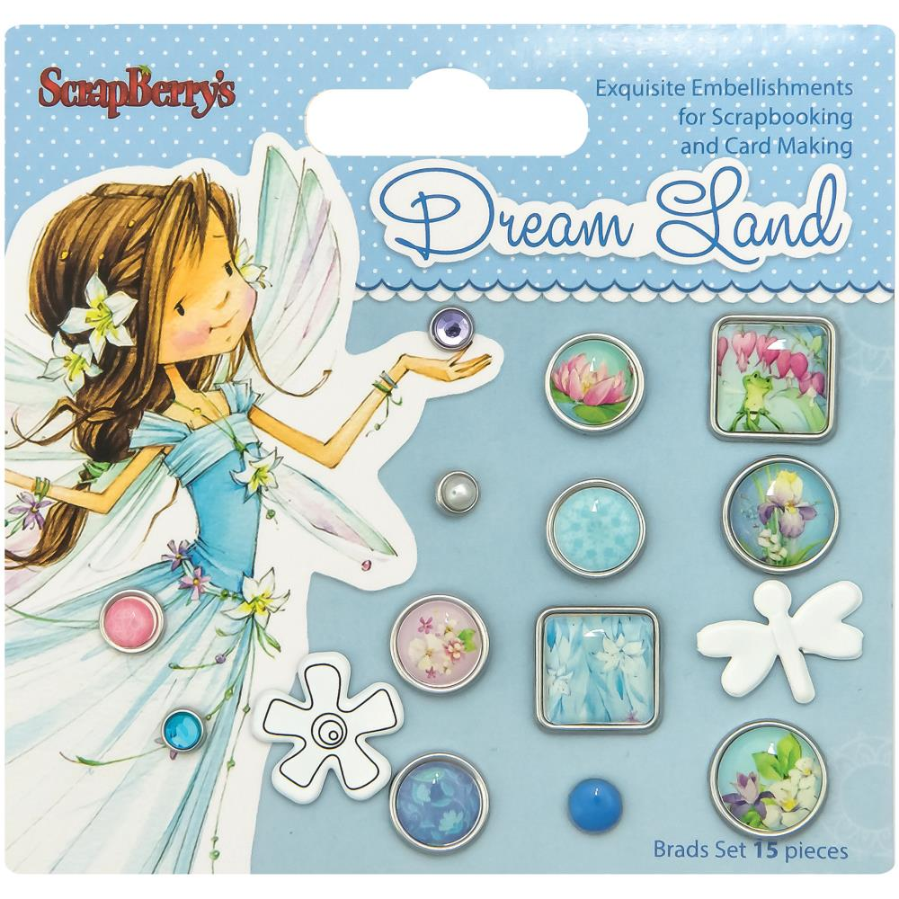 ScrapBerry's - Dream Land Decorative Brads - Assorted
