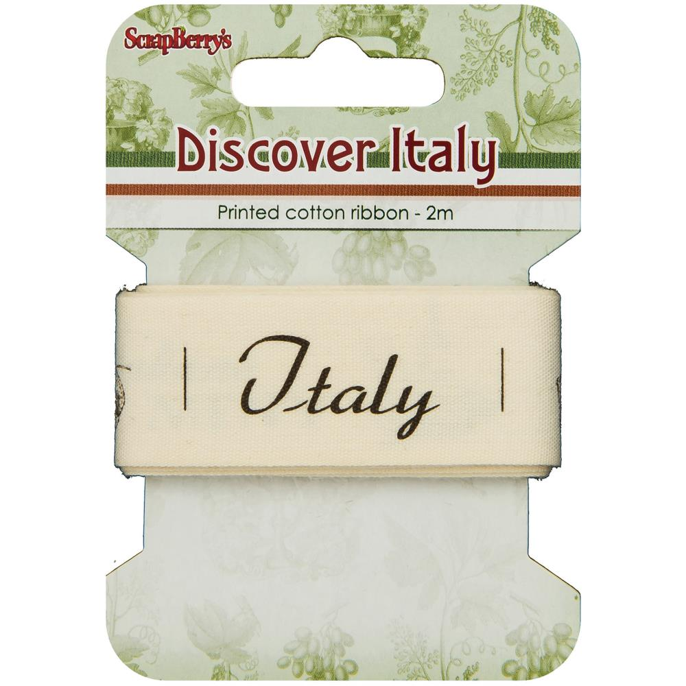 ScrapBerry's - Discover Italy Printed Cotton Ribbon - Italian Menu