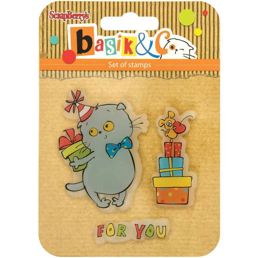 ScrapBerry's - Basik's New Adventure Clear Stamps