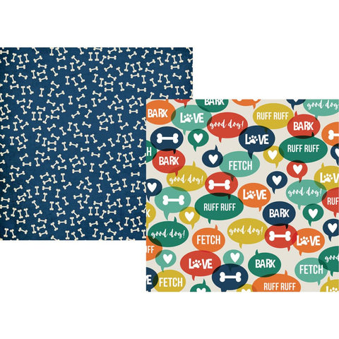 "(pre order) Simple Stories - Simple Sets Life Is Ruff Double-Sided Cardstock 12""X12"" Ruff Ruff"