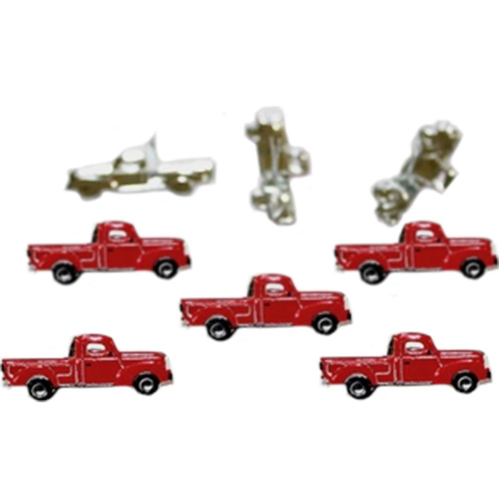 Eyelet Outlet Shape Brads  - Red Truck