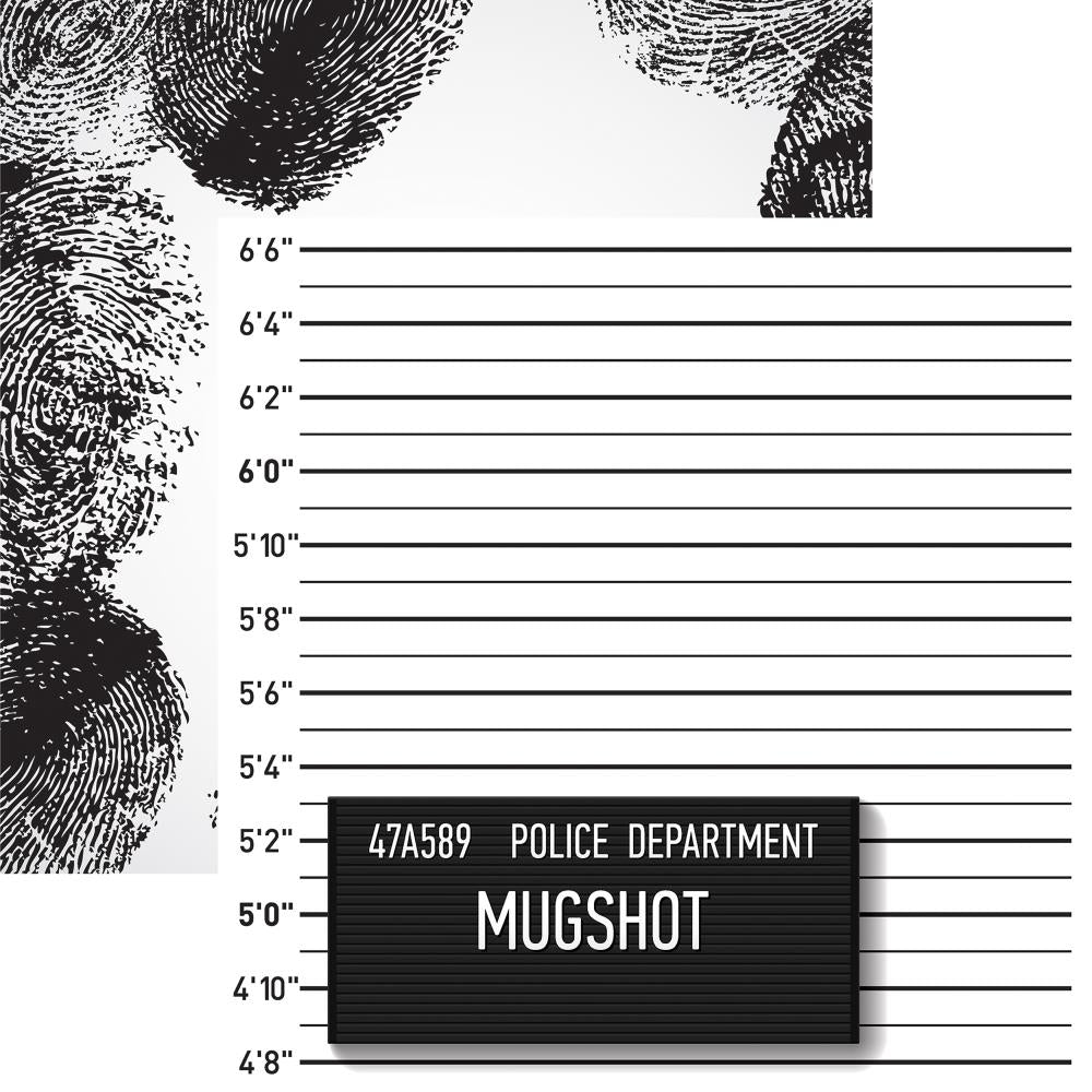 "Reminisce - Police Double-Sided Cardstock 12""X12"" Mugshot"