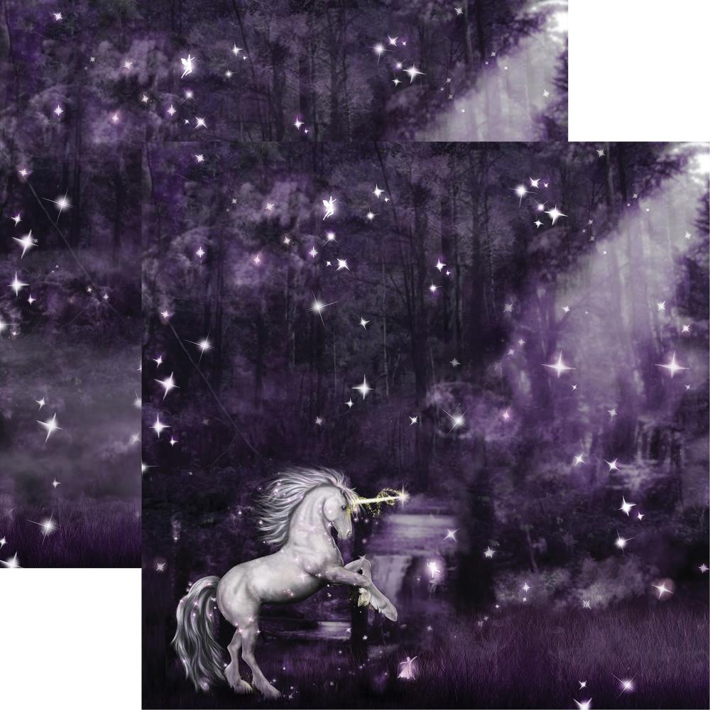 "Reminisce - Unicorn Magic Double-Sided Cardstock 12""X12"" Unicorn Magic"