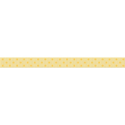 "(pre order) BoBunny - On This Day Grosgrain Ribbon .375"" Mellow Yellow"