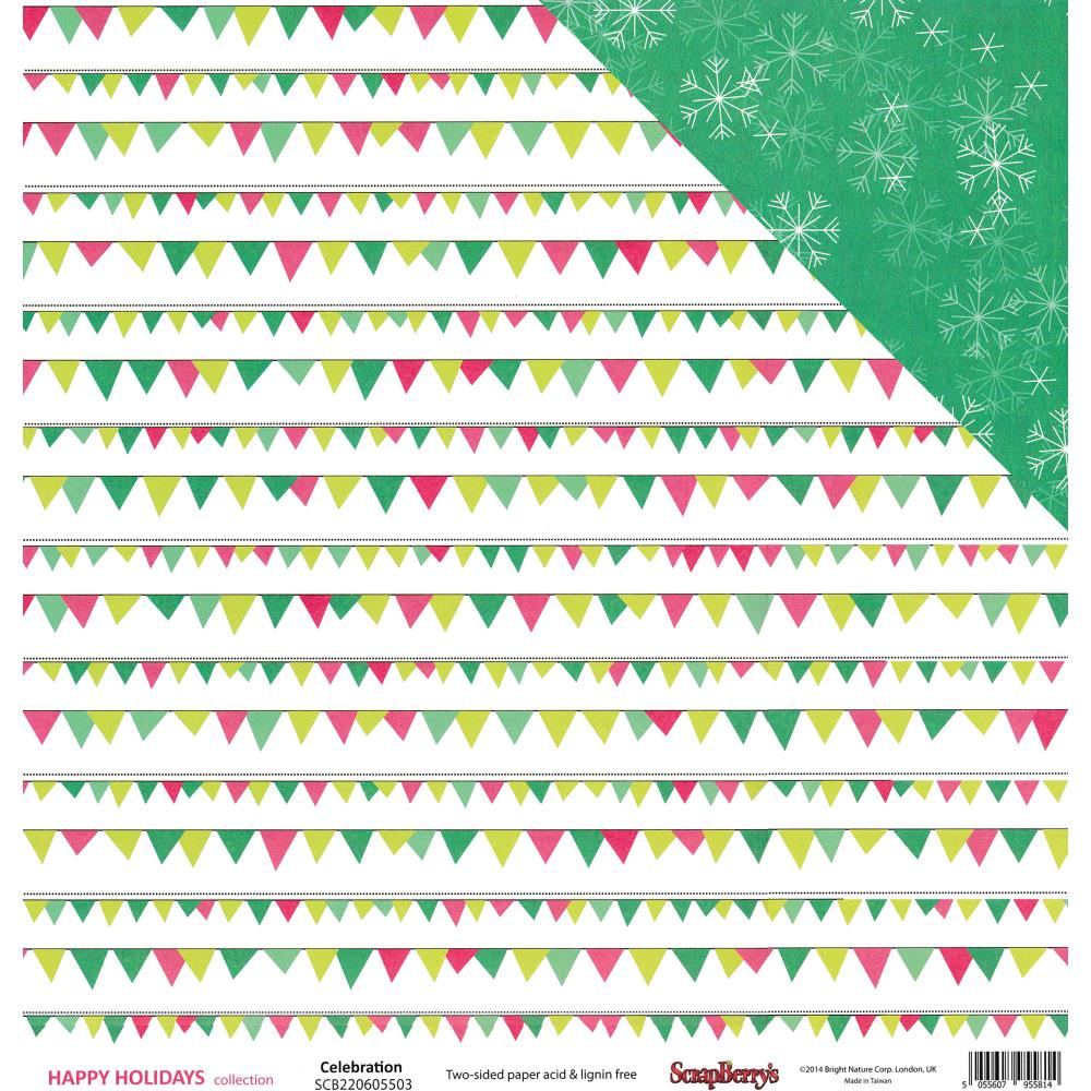 ScrapBerry's - Happy Holidays Double-Sided Cardstock -Celebration!
