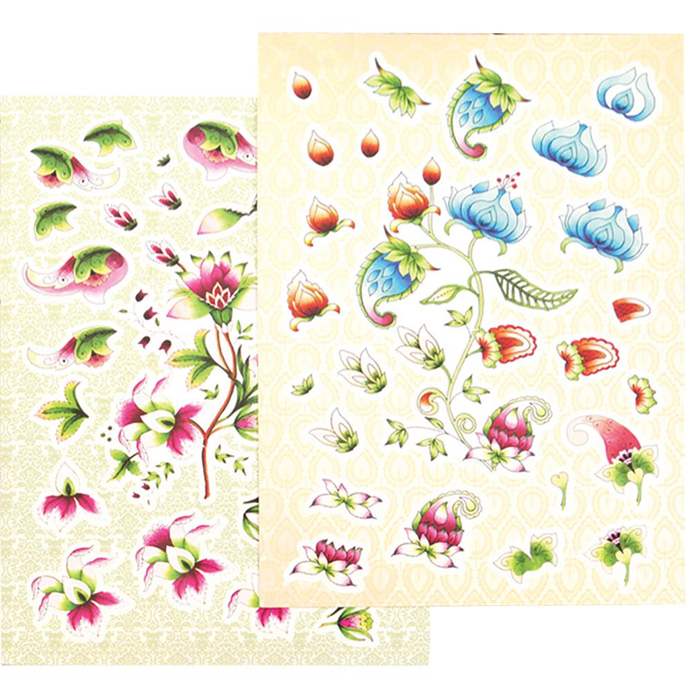 Ultimate Crafts Bohemian Bouquet A4 Decoupage Kit 2/Pkg Diecut