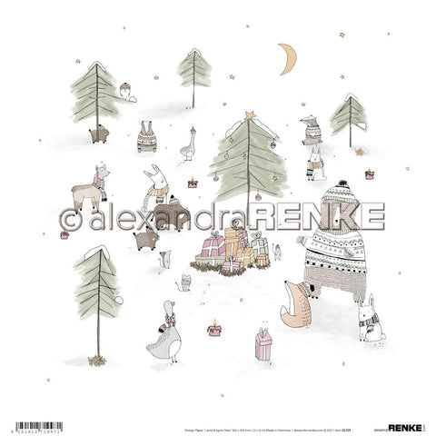 "Alexandra Renke Winter Paper 12""X12"" Forrest Presents"