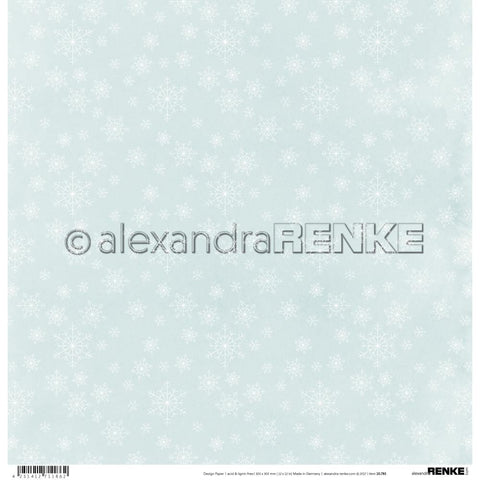 "(Pre Order) Alexandra Renke Winter Paper 12""X12"" Snow Crystal With Iceblue"