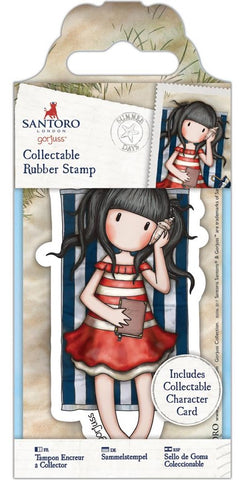 Docrafts - Santoro London Gorjuss Collectable Rubber Stamps - No. 42 Summer Days