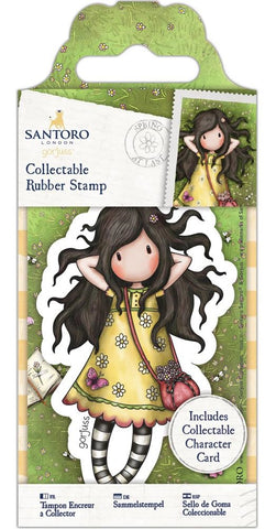 Docrafts - Santoro London Gorjuss Collectable Rubber Stamps - No. 43 Spring At Last