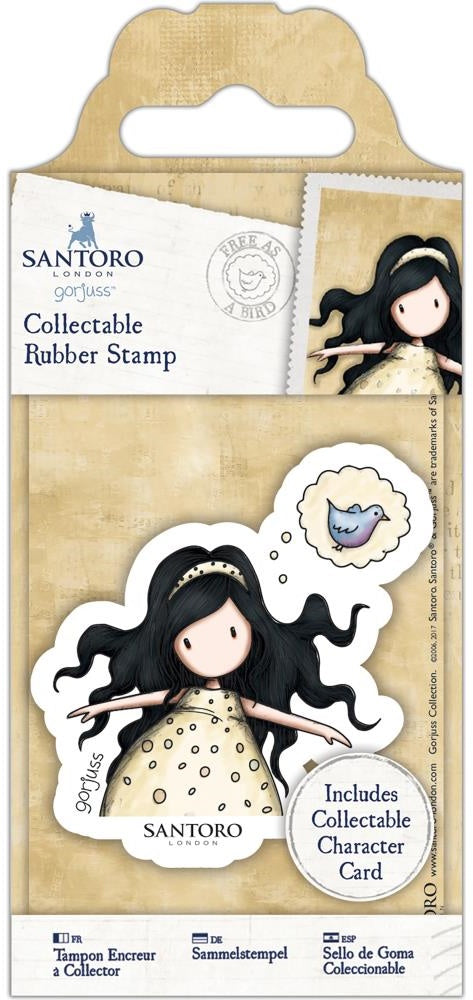 Docrafts - Santoro London Gorjuss Rubber Stamps - No. 44 Free As A Bird