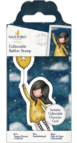 Docrafts - Santoro London Gorjuss Collectable Rubber Stamps - No. 45 Fly Away With Me