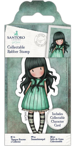 Docrafts - Santoro London Gorjuss Collectable Rubber Stamps - No. 47 I Stole Your Heart