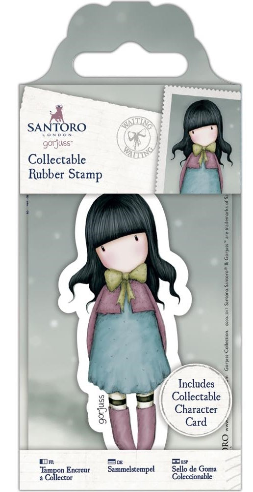 Docrafts - Santoro London Gorjuss Collectable Rubber Stamps - No. 52 Waiting