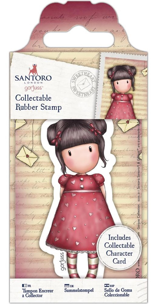 Docrafts - Santoro London Gorjuss Collectable Rubber Stamps - No. 54 Sweetheart