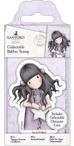 Docrafts - Santoro London Gorjuss Collectable Rubber Stamps - No. 55 All These Words