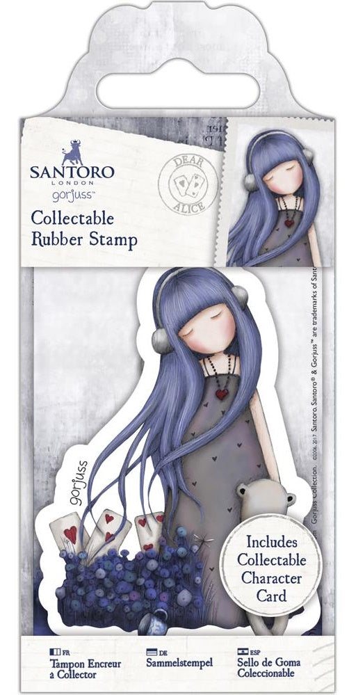 Docrafts - Santoro London Gorjuss Collectable Rubber Stamps - No. 56 Dear Alice