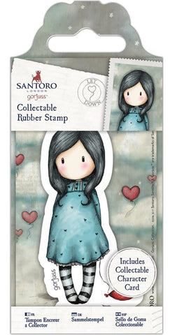 Docrafts - Santoro London Gorjuss Collectable Rubber Stamps - No. 60 Let Down