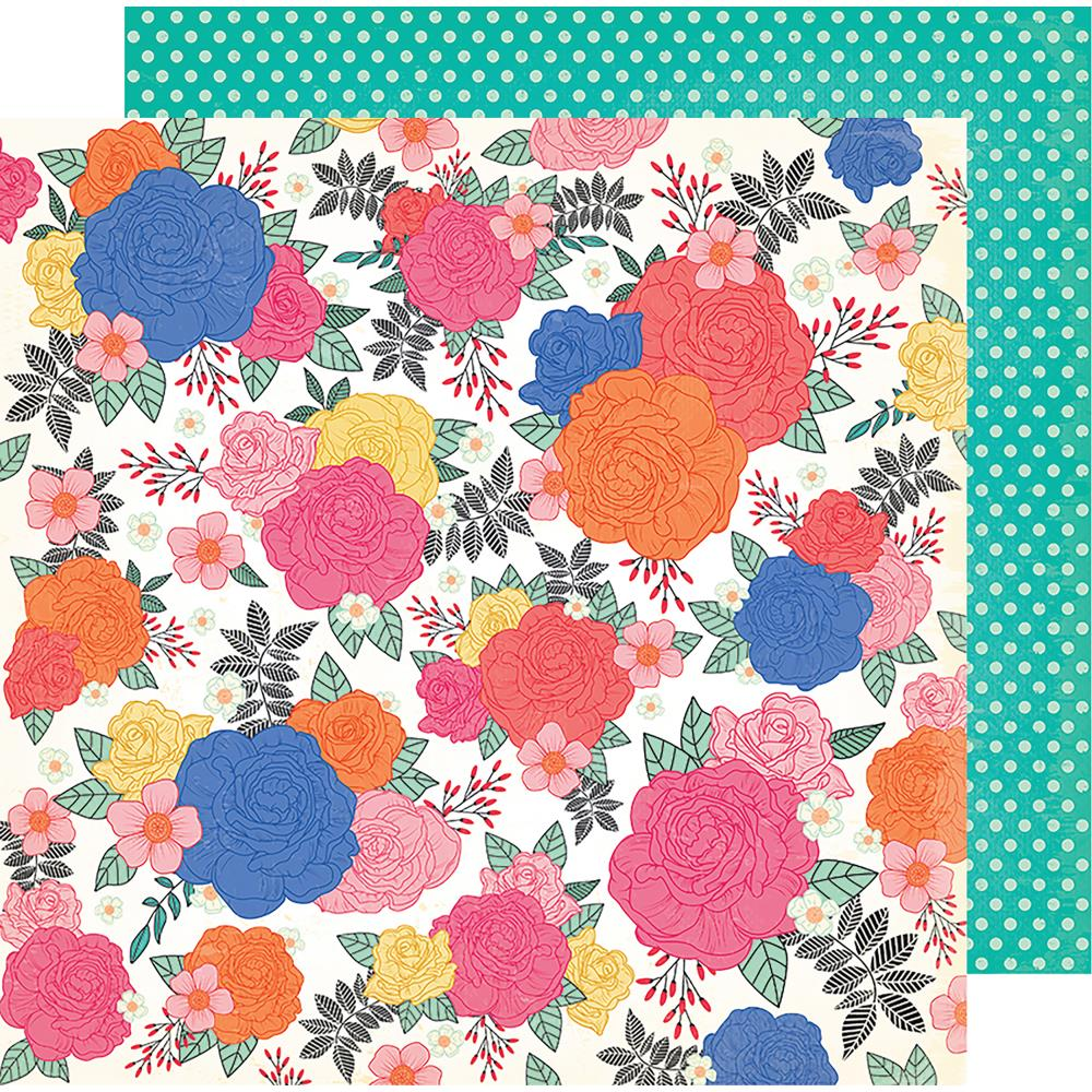 "American Crafts - Vicki Boutin All The Good Things Dbl-Sided Cardstock 12""X12"" Blossom To Awesome"