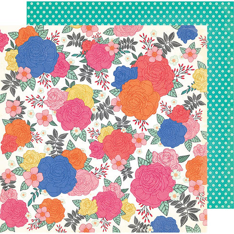 "(Pre Order) American Crafts - Vicki Boutin All The Good Things Dbl-Sided Cardstock 12""X12"" Blossom To Awesome"